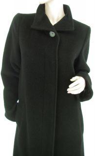 Hilary Radley Wool Mohair Black Four Buttons Womens Long Maxi Coat US