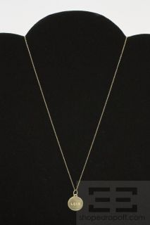 Helen Ficalora 14k Yellow Gold Love Charm Necklace w Box