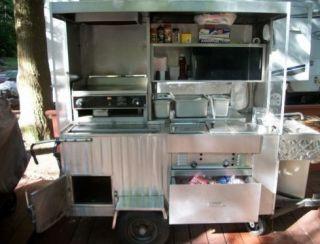 Food Hot Dog Concession Cart w Flat Top Grill