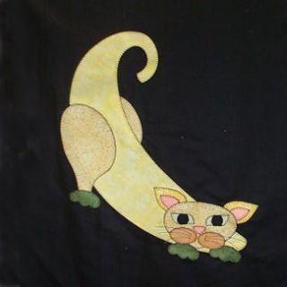 Cat Laser Cut Quilt Kit Helene Knotts Garden Patch Cats Banana Cat