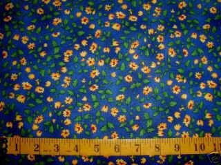 yds Fabri Quilt Cotton Fabric Blue Background