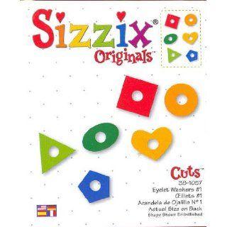 Sizzix Originals EYELET WASHERS Die RED 38 1057