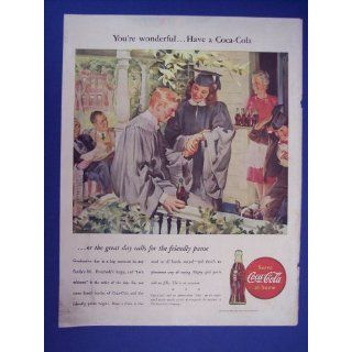 on porch),print Ad, 40s Vintage Magazine Print Art