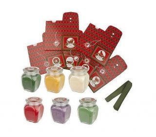 Set of 6 8.75 oz. Soy Holiday Candles w/ Gift Boxes byValerie