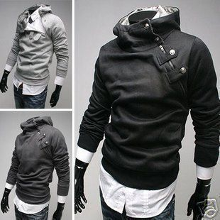 Mens Slim Sexy Top Designed Hoody Coat Jacket M L XL XXL Hot Sell