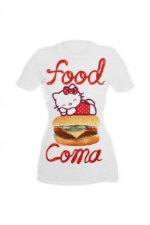 NWT HELLO KITTY white FOOD COMA HAMBURGER SHIRT TOP XXL