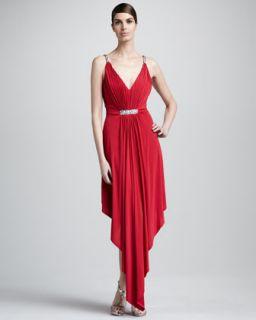 Donna Karan Cap Sleeve Twist Front Dress