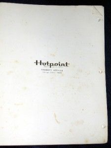 Vtg Hotpoint 1966 1968 Models Refrigerator Service Manual Repair Guide