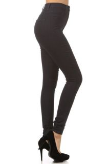 New High Waist Hot Fashion Trends Skinny Jean Pants Size 1 ~ 15 BLACK