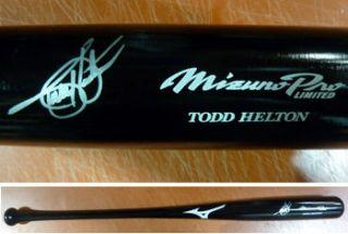 Todd Helton Autographed Colorado Rockies Game Model Black Mizuno Pro