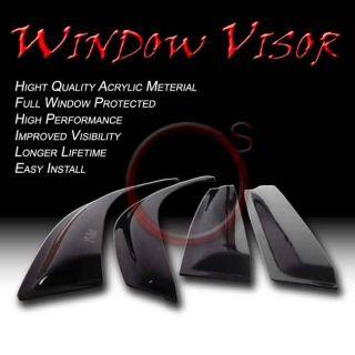Honda Accord 98 02 Sedan Smoke Window Vent Sun Shade Acrylic Rain