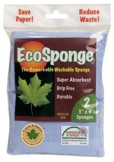 Pacific Dry Goods Ecosponge Washable Kitchen Household Sponge 2pk