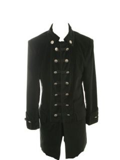 Jimi Hendrix Style Stage Coat Black Velvet Rocker Coat Rock N Roll
