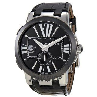 Time Automatic Black Leather Mens Watch 243 00 42 Watches