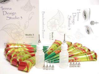 Henna Paste Body Art Tattoo Kit for Fund Raising Events
