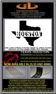 Houston Texas State Airbrush Stencil Template Harley Paint New Design