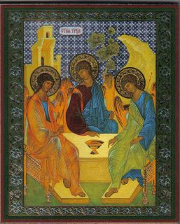 holy trinity by rublev the icon was painted by andrei rublev in the