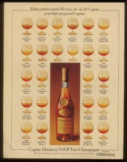 1978 Hennessy VSOP Cognac Snifters Photo French Ad