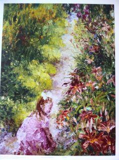 Henrietta Milan Little Girl Visiting Monet Giclee