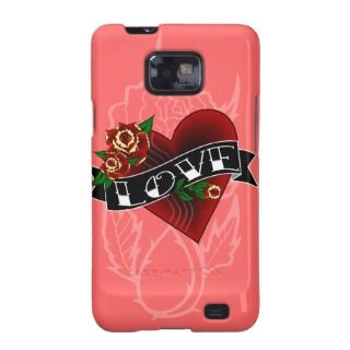 Tattoo Love Heart Samsung Galaxy Covers