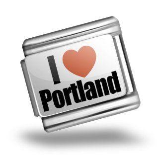 Italian Charms Original I Love Portland region Oregon