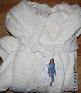 carole hochman robe womens large white plush