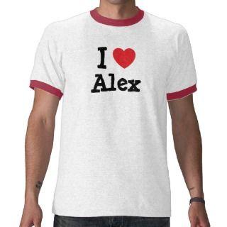 Amo el personalizado del corazón de Alex personali T Shirt de
