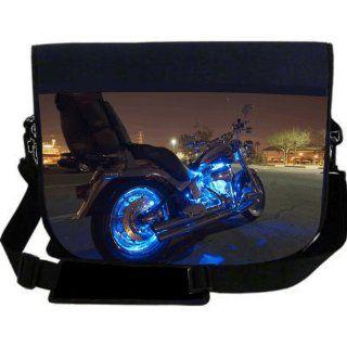 Harley Davidson Blue Neon Lights NEOPRENE Laptop Sleeve
