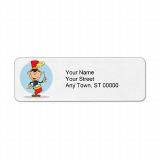 cute little drummer boy return address labels