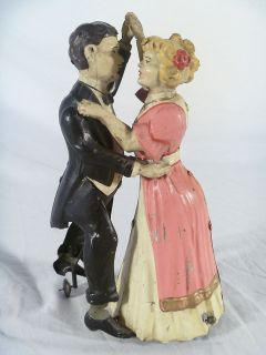 ANTIQUE GUNTHERMANN GERMANY DANCING COUPLE TIN CLOCKWORK TOY WIND UP
