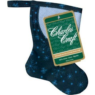 Mini Quilted Christmas Stocking 5 Blue Snowflakes