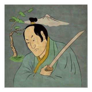 illustration of a Japanese samurai warrior with katana sword in