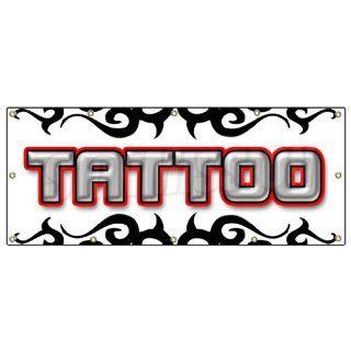 48x120 TATTOO 1 BANNER SIGN shop artist signs body art