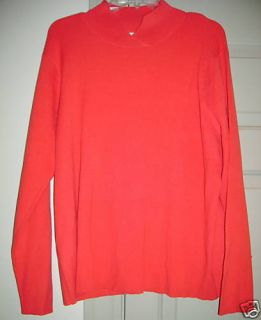 Coldwater Creek Red Crossover Neck Sweater 1x 2X 3X