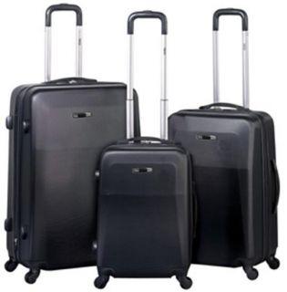 Heys USA TC Planaris Lite Expandable 4WD Spinner Luggage Set Black