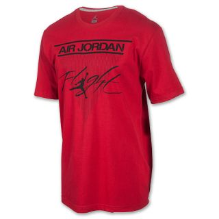 Mens Jordan Classic Flight Tee Shirt Gym Red/Black