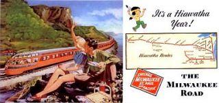 MILWAUKEE ROAD HIAWATHA & OLYMPIAN * LIGHTED BILLBOARD AD for LIONEL