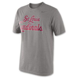 Mens Nike Tri Blend Logo St. Louis Cardinals MLB Baseball T Shirt