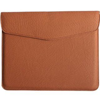 Slip Sleeve Leather Case Cover Pouch For iPad 2 Brown