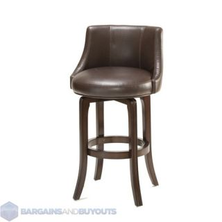 Hillsdale Napa Valley Swivel Bar Stool Brown Cherry