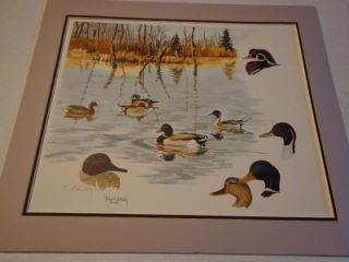 ducks unlimited lithograph artwork by robert w hilty