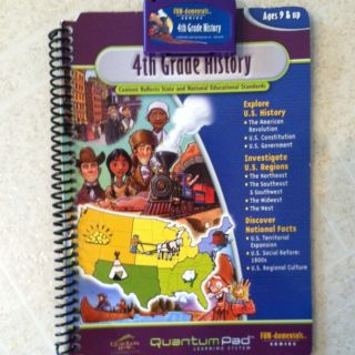 Leap Frog Leap Pad Quantum Pad 4th Grade History Book Cartridge