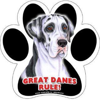 Great Danes Rule Dog Paw Print Rubber Car Truck Fridge