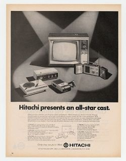 1968 Hitachi Radios TV Turntable Recorder Print Ad