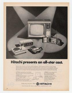 1968 Hitachi Radios TV Turntable Recorder Print Ad