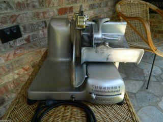 Commercial Hobart Model 410 Deli Meat Cheese Slicer w Knife Sharpener