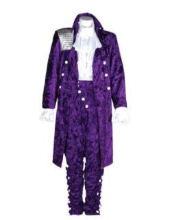 Mens Purple Rain Prince Costume, Large Clothing