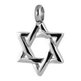 Stainless Steel Judaica Star of David Pendant Religious