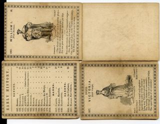 Playing Card Games C1844 US History of England