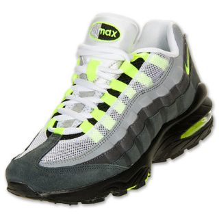 Boys Gradeschool Nike Air Max 95 Cool Grey/Neon